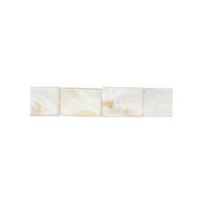 24+ White/Cream Mother Of Pearl Approx 13-15mm Handcut Rectangle Beads FM2731