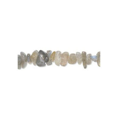Strand of 130+ Grey Labradorite Approx 3-8mm Chip Beads FM8615A