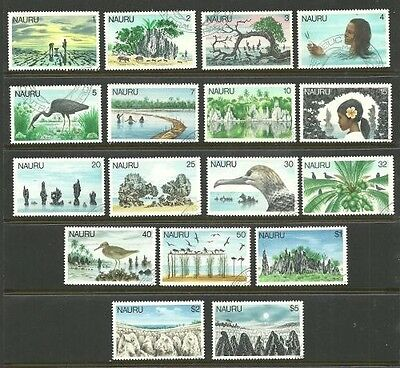 Album Treasures Nauru Scott # 165-181  Scenes, Birds Complete Set VF Used CDS