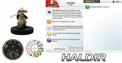 HALDIR #025 Lord of the Rings: The Two Towers LotR HeroClix RARE