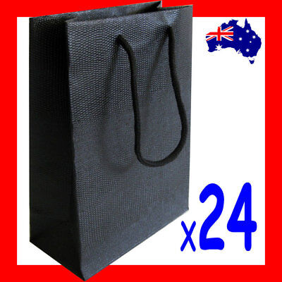 Top Selling 24X Paper Gift Bag with Handle-15x20cm-Black | AUSSIE Seller