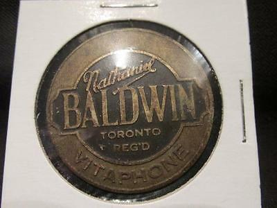 Nathaniel Baldwin Vitaphone Circa 1920s Vintage Convex Product ID Tag