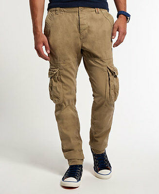 New Mens Superdry Slim Core Cargo Lite Pants Sand