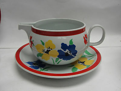 BLOCK HEARTHSTONE CHINA - ANEMONE Pattern - CREAMER with SAUCER