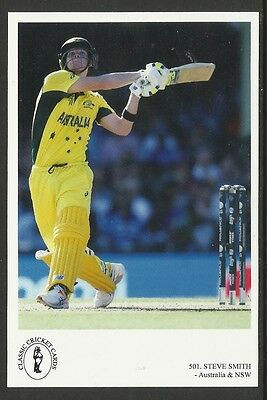 STEVE SMITH  (AUSTRALIA, NEW SOUTH WALES). CLASSIC CRICKET POSTCARD No. 501