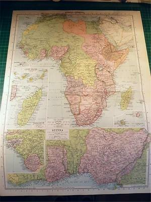 Map From Philip's Atlas 1931 - Africa (General) & Insets Of Islands....113-14/31