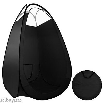 Large Black Pop Up Spray Tan Tent Tanning Mobile Booth Sunless Portable Washable