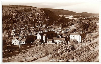 Real Photo Postcard Looking Into Knighton-With Red Cross Hospital-Radnorshire