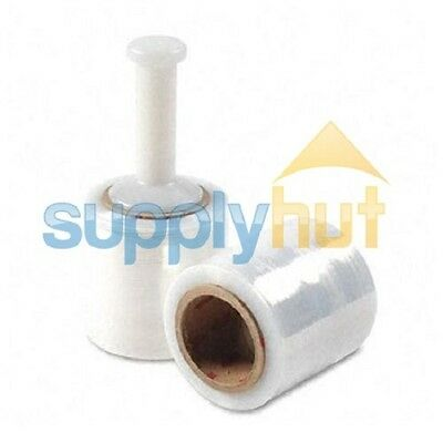 """3"""" in. x 1000FT 80 Gauge 1 Roll Stretch Shrink Film Hand Wrap + Handle"""