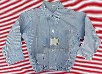 Vintage childrens shirt 1930s 1940s Shop soiled Royal blue School uniform UNUSED