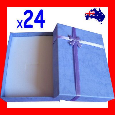 RELIABLE 24X Necklace Set Jewellery Gift Box-9x12.5cm-Blue | AUSSIE Seller
