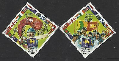 SRI LANKA 2007 CRICKET WORLD CUP 2v MNH