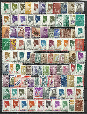 INDONESIA STAMP COLLECTION & PACKET of 100 DIFFERENT Mostly Mint NICE SELECTION