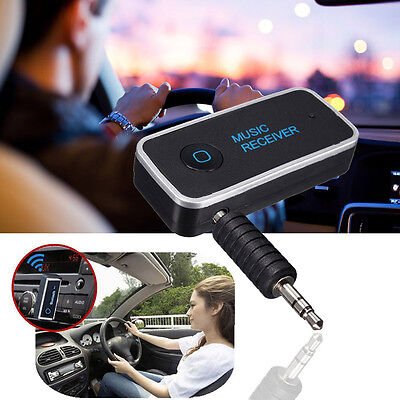 Wireless Bluetooth 4.1 Car Receiver 3.5mm Music Stereo Aux Audio Speaker Adapter