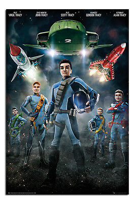 Thunderbirds Are Go! Crew Poster New - Maxi Size 36 x 24 Inch