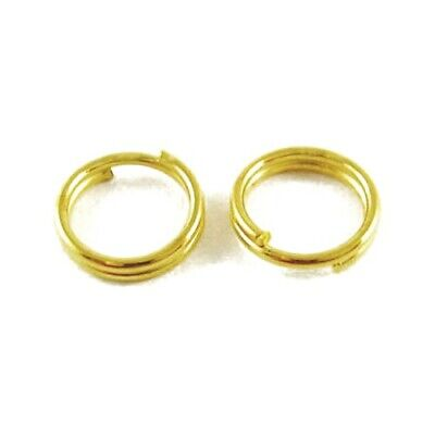 Packet 275+ Golden Plated Iron Round Split Rings 0.7 x 8mm HA11335