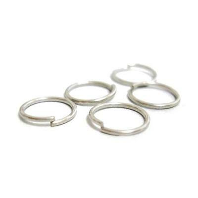 Packet 350+ Antique Silver Plated Iron Round Open Jump Rings 0.7 x 8mm HA11435