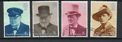 GB 1974 Birth Centenary Churchill Fine used set stamps