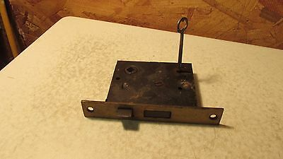 Antique Cast Iron Mortise Lock & Key  No. 10