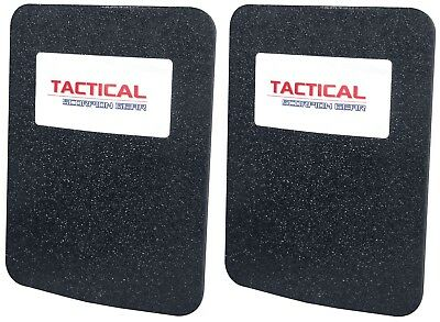 Level III AR500 Steel Body Armor Pair 6x8 Flat Plate Coated - Quick Ship