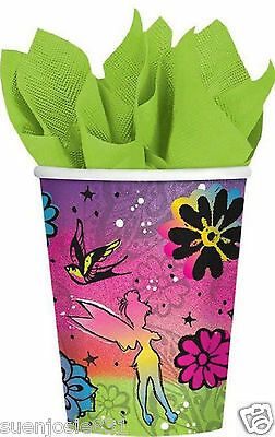 Disney Tinkerbell Fairies Keep Flying 9oz Hot Cold Paper Cups 8pc Party Supplies