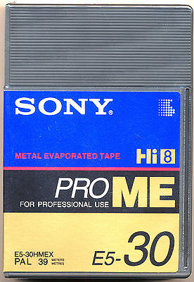 SONY E5-30HMEX Professional Hi-8 Metal Evaporated Tape 30 minutes PRO ME TAPE