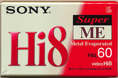 SONY E5-60HME  Hi-8 Metal Evaporated Tape 60 minutes  SUPER ME