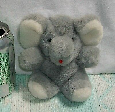 "5 1/2"" PRINCESS SOFT TOYS Plush GREY GRAY Stuffed ELEPHANT"