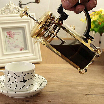 French Press Tea Coffee Maker Stainless Steel Glass French Filter Teapot 350ML