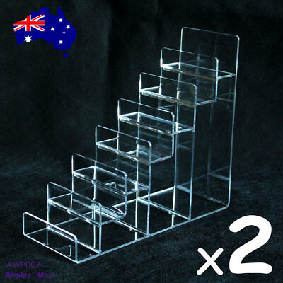 2X Wallet Display Stand Rack Organiser-7 Levels-Clear Acrylic | AUSSIE Seller
