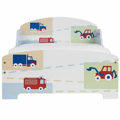 Boys Vehicles Toddler Bed No Storage New Free P+P 18 Months +