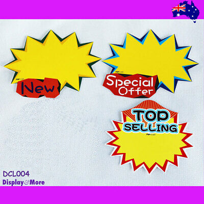 BEST Value 30X Retail Store Shop Paper Price Sign Card-Large | AUSSIE Seller