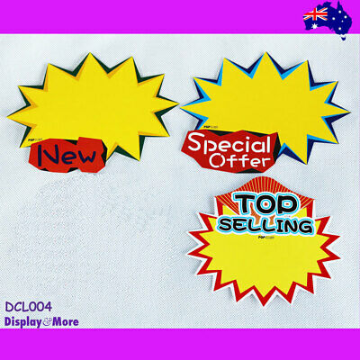 BEST Value 40X Retail Store Shop Paper Price Sign Card-Large | AUSSIE Seller