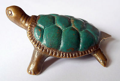 TORTUE en BRONZE ANTIQUE ANCIEN ARTISANAT INDONESIE