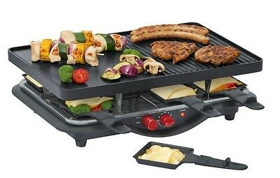 Steba RC 28 Guß-Raclette Raclettegrill 8-Pfannen Raclette Tischgrill Grill RC28