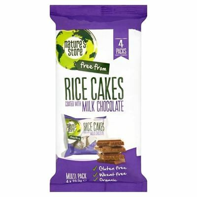 Nature's Store Organic Milk Chocolate Rice Cakes Gluten Free 4 x 33.3g