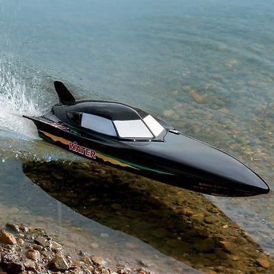 Radio Remote Control Black Stealth EP Racing Speed Boat