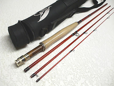 "Fly Rod Classic Style e-Glass 4 pcs. 7'-8"" 4 Wt. W/Rod Tube and rod sock"