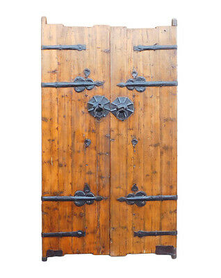 Chinese Vintage Iron Hardware Door Gate Wall Panel cs1179