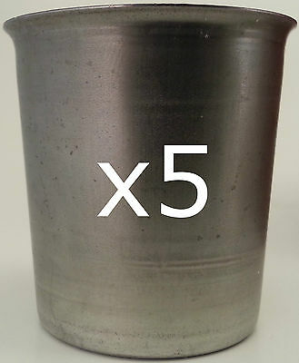 5 seamless votive candle making moulds ~ top quality metal ~ soy paraffin wax