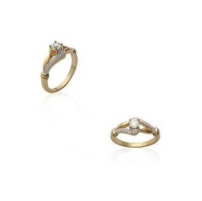 Wedding Ring Antique Zircon Plated Gold New Size of Your Choice 48 Au 68 Styl