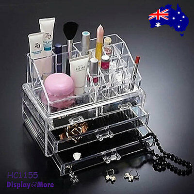 NEW Cosmetic Makeup Holder Organiser 4-Drawers-Clear Acrylic | AUSSIE Seller