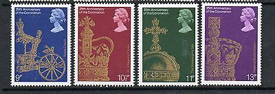 GB 1978 Coronation 25th Anniv unmounted mint set stamps