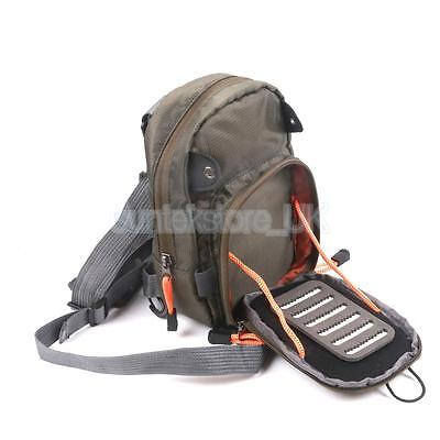 Lightweight Army Green Fly Fishing Chest Waist Pack Tackle Tool Storage Bag