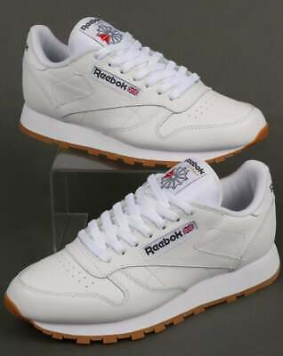 Reebok - Classic Leather Trainers in White & Gum - Reebok Classics (UK Sizes)