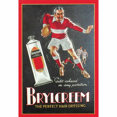 New Brylcreem Rugby Postcard Hair Dressing Rugger Retro Vintage Opie Image Sport