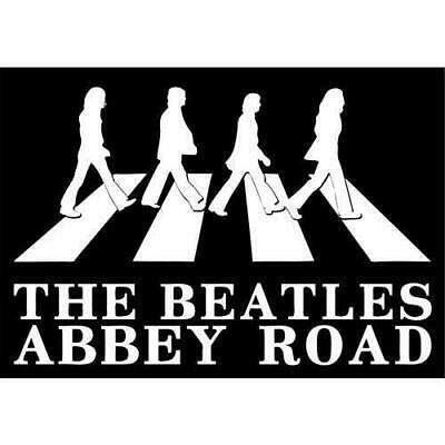 New Beatles Abbey Road Silhouette Postcard Retro Music Official Image Lennon Lp