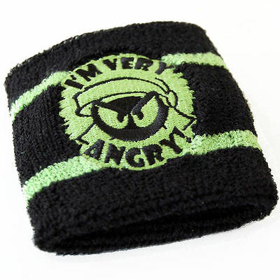 New Marvin The Martian Very Angry Wrist Sweat Band Retro Terry Cloth Official