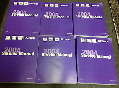 2004 CHEVY AVALANCHE & SUBURBAN TRUCK Service Shop Repair Manual Set NEW OEM 04