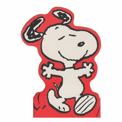 Snoopy Open Arms Shaped Greeting Card Retro Birthday Blank Peanuts Charlie Brown